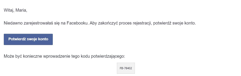 Rejestracja konta na Facebooku