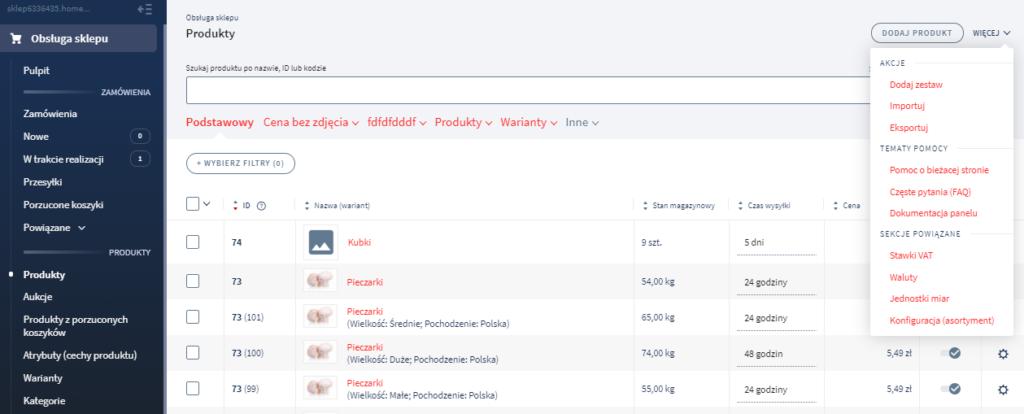 Eksport danych ze sklepu do pliku CSV