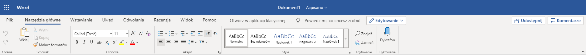 Praca z Office 365
