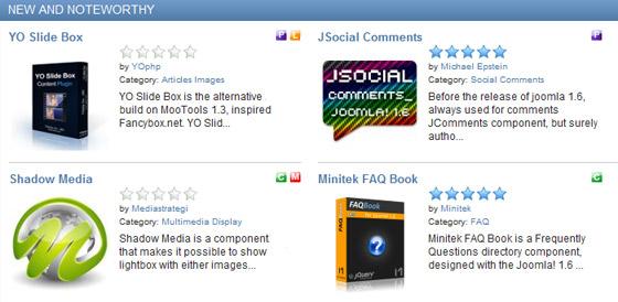 Joomla - Rozszerzenia - Dodatki - Włącz wybrane rozszerzenie
