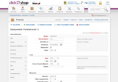 eSklep - Edytuj - Produkt - Opisz dokładnie produkt, zależnie od jego specyfiki