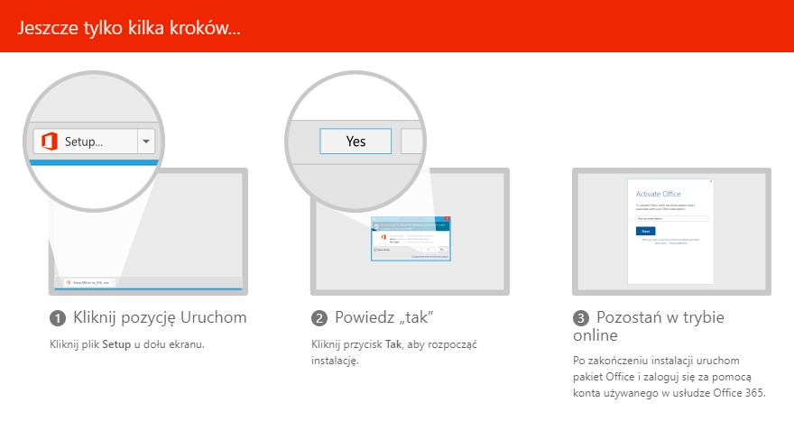 Instalacja Office 365 na komputerze