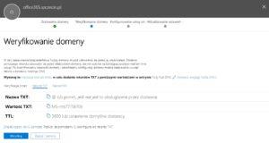 Weryfikowanie domeny w Microsoft 365