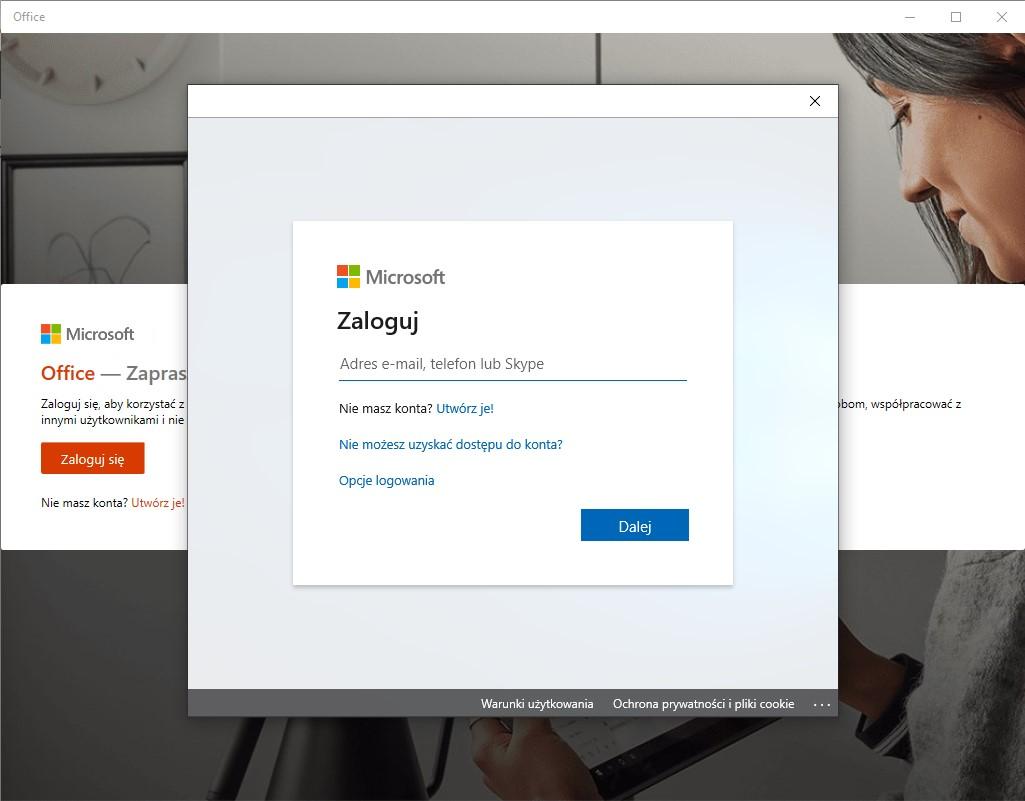 Office 365 - aplikacje na komputer
