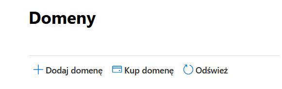Dodaj domenę w panelu Microsoft 365