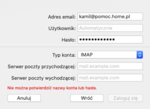 Mail - konfiguracja ręczna