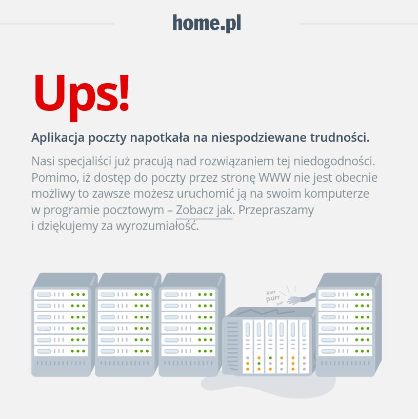 Jak wygląda błąd 503 podczas korzystania z Poczty home.pl?