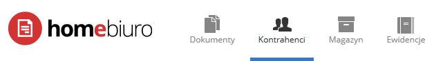 eKsięgowość - Wybierz opcję menu Kontrahenci