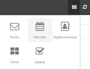 Opcja menu Kalendarz w skrzynce e-mail na home.pl