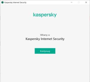 Kaspersky Internet Security - Kreator instalacji - Kliknij przycisk Kontynuuj