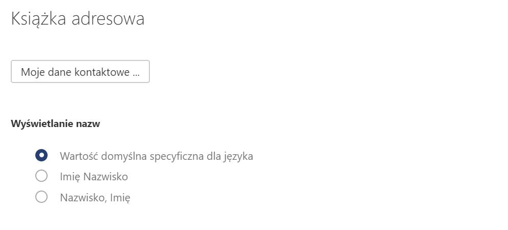 Jakie ustawienia mogę zmienić w sekcji Książka adresowa w Poczcie home.pl?