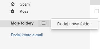 Jak utworzyć nowy katalog dla wiadomości w Poczcie home.pl?