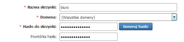 Panel klienta - Dodaj nową skrzynkę e-mail na serwerze home.pl - Wybierz opcję Wszystkie domeny
