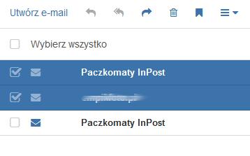 Poczta home.pl - Skrzynka odbiorcza - Zaznacz jedną lub kilka wiadomości