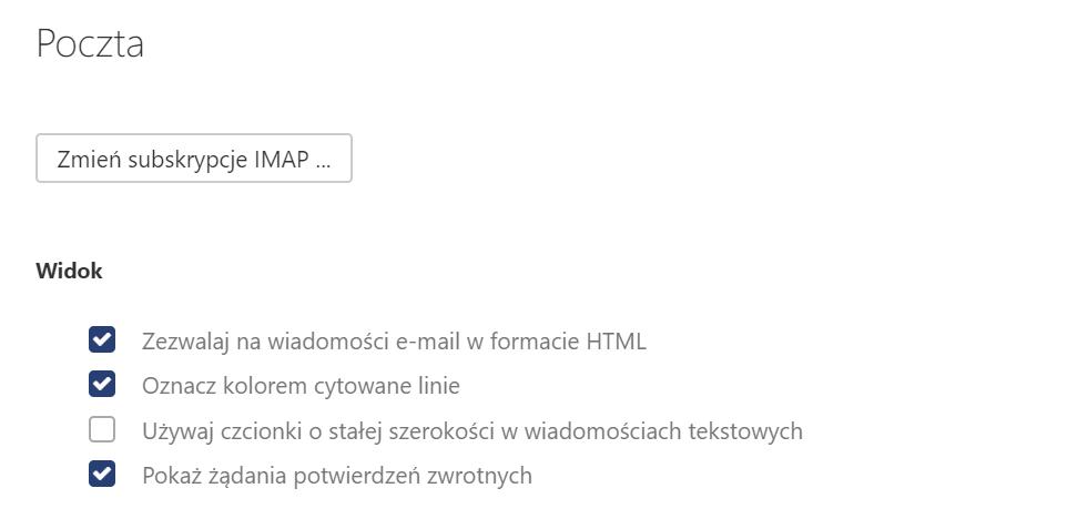 Jakie ustawienia mogę zmienić w sekcji Poczta w Poczcie home.pl?