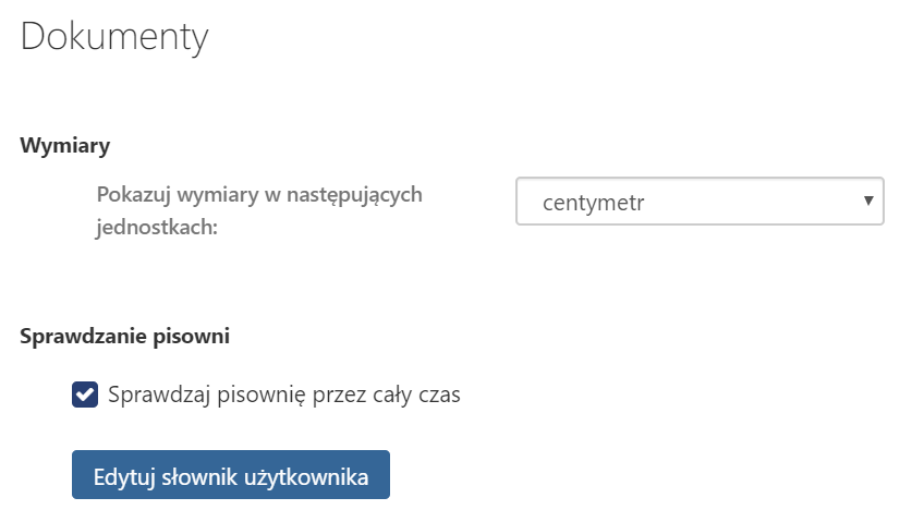 Jakie ustawienia mogę zmienić w sekcji menu Dokumenty w Poczcie home.pl?
