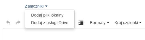 Poczta home.pl - Utwórz e-mail - Formularz - Załączniki - Wybierz opcję Dodaj plik lokalny