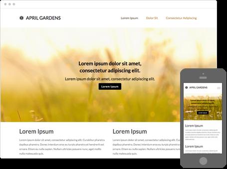Szablon dostępny dla wersji Kreator Profesjonalny - April gardens