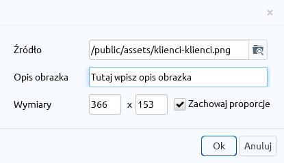 eSklep - Zawartość - Strony informacyjne - Wgraj nowe zdjęcia korzystając z wbudowanego w edytor mechanizmu