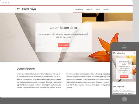 Szablon dostępny dla wersji Kreator Profesjonalny - Hotel koya