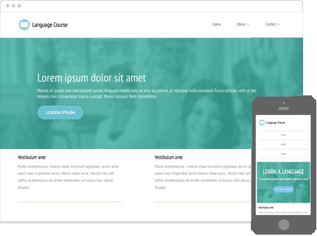 Szablon dostępny dla wersji Kreator Profesjonalny - Language course
