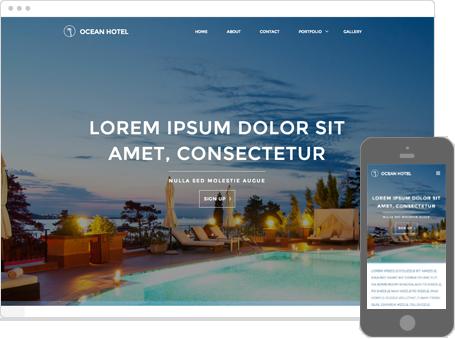 Szablon dostępny dla wersji Kreator Profesjonalny - Ocean hotel