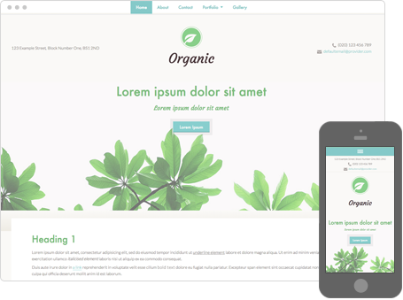 Szablon dostępny dla wersji Kreator Profesjonalny - Organic
