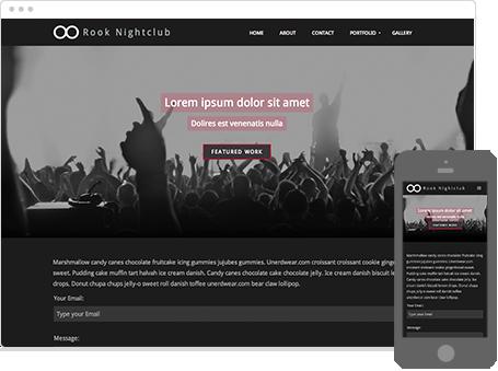Szablon dostępny dla wersji Kreator Profesjonalny - Rook Nightclub