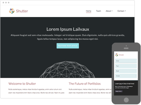 Szablon dostępny dla wersji Kreator Profesjonalny - Shutter