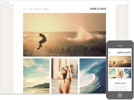 Szablon dostępny dla wersji Kreator Profesjonalny - Surf and love