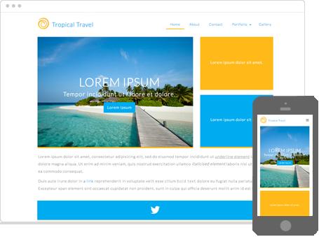 Szablon dostępny dla wersji Kreator Profesjonalny - Tropical Travel