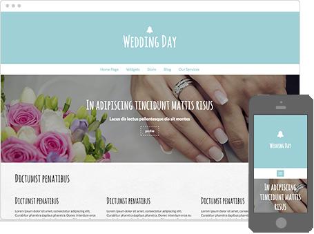 Szablon dostępny dla wersji Kreator Profesjonalny - Wedding day