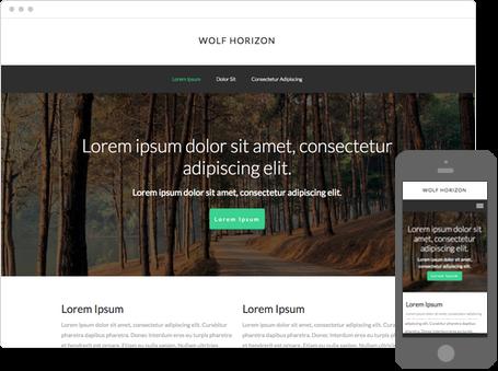 Szablon dostępny dla wersji Kreator Profesjonalny - Wolf horizon
