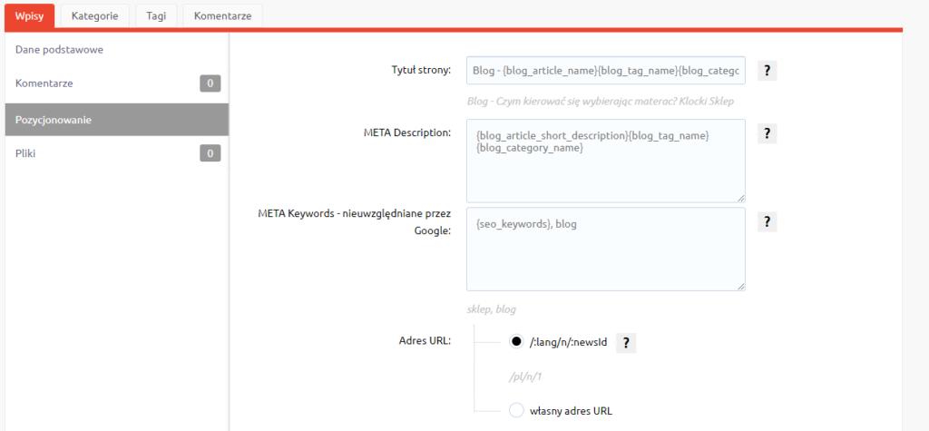 Jak pozycjonować bloga w sklepie internetowym home.pl?