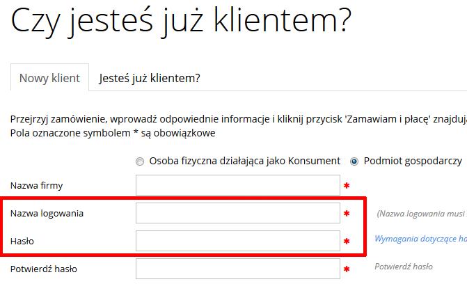 home.pl - Ochrona danych - Kopia zapasowa danych - Zamów - Subdomena - Zarejestruj się