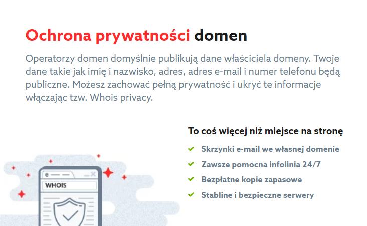 Ochrona prywatności – ochrona dla domen globalnych