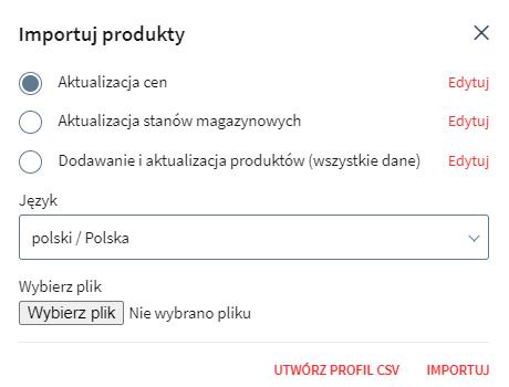 Typy profilu – dodawanie czy aktualizacja?