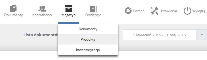 eKsięgowość - Panel klienta - Magazyn - Nowe nazwy opcji po aktualizacji