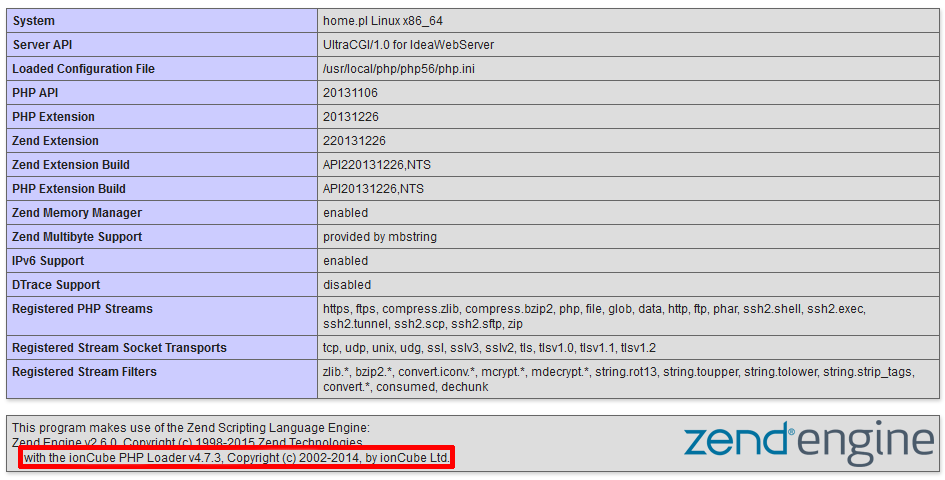 Jak uruchomić ionCube Loader na serwerze w home.pl?