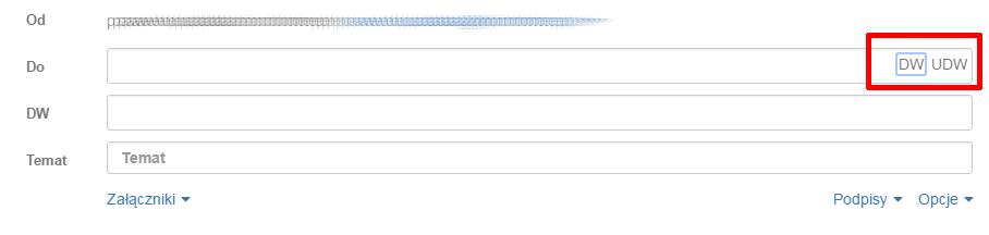 Zastosowanie pól DO, UDW oraz DW podczas tworzenia wiadomości e-mail