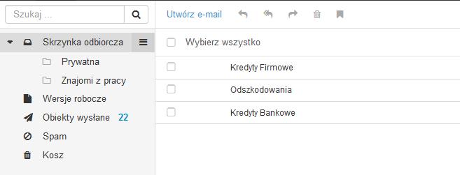 Zarządzanie wiadomościami e-mail za pomocą folderów