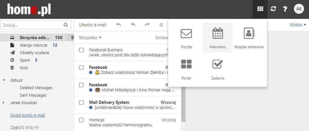 Obsługa i konfiguracja Kalendarza w Poczcie home.pl