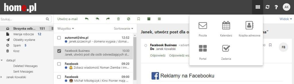 Obsługa i konfiguracja Portalu w Poczcie home.pl