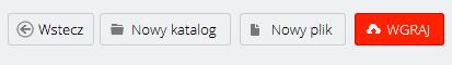 WebFTP - Ekran główny - Sprawdź dostępne przyciski do nawigacji i tworzenia zasobów