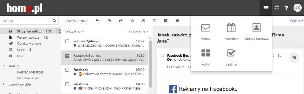 Obsługa i konfiguracja Zadań w Poczcie home.pl
