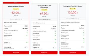 home.pl - WordPress Hosting - Prezentacja produktu - Wybierz pakiet najlepszy dla Twojej strony WWW i potwierdź wybrany pakiet klikając Wybieram