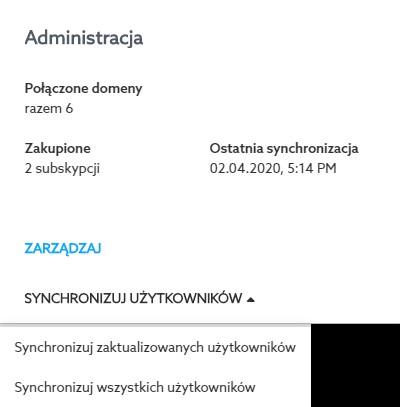 Administracja - synchronizuj użytkowników