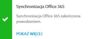 synchronizacja office 365 poprawna