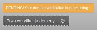 SiteLock - Weryfikuj - Trwa weryfikacja domeny - Poczekaj na ukończenie konfiguracji
