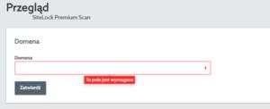 Konfiguracja domeny w SiteLock